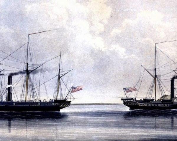 دانلود مستند اولین کشتیهای جنگی فلزی با دوبله شبکه منوتو از مجموعه داستان کشتی های جنگی